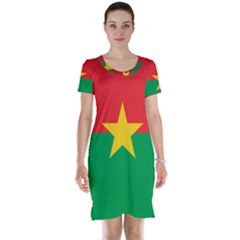 Flag Of Burkina Faso Short Sleeve Nightdress