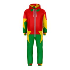 Flag Of Burkina Faso Hooded Jumpsuit (kids)