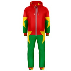 Flag Of Burkina Faso Hooded Jumpsuit (men)