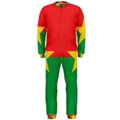 Flag Of Burkina Faso Onepiece Jumpsuit (men)