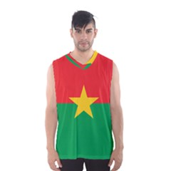 Flag Of Burkina Faso Men s Basketball Tank Top