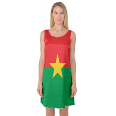 Flag Of Burkina Faso Sleeveless Satin Nightdress