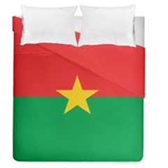 Flag Of Burkina Faso Duvet Cover Double Side (queen Size)