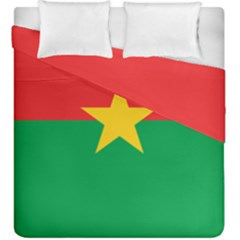 Flag Of Burkina Faso Duvet Cover Double Side (king Size)