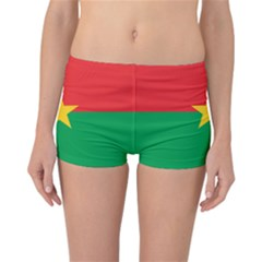 Flag Of Burkina Faso Reversible Boyleg Bikini Bottoms
