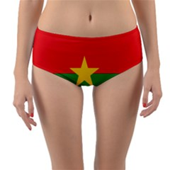 Flag Of Burkina Faso Reversible Mid Waist Bikini Bottoms