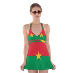 Flag Of Burkina Faso Halter Dress Swimsuit