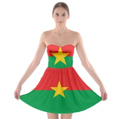 Flag Of Burkina Faso Strapless Bra Top Dress