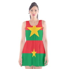 Flag Of Burkina Faso Scoop Neck Skater Dress