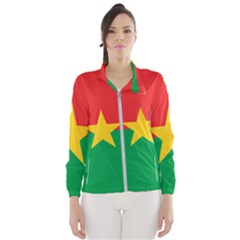 Flag Of Burkina Faso Wind Breaker (women)