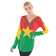 Flag Of Burkina Faso Tie Up Tee