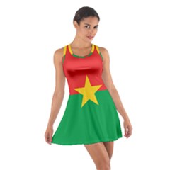 Flag Of Burkina Faso Cotton Racerback Dress
