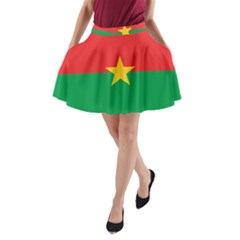 Flag Of Burkina Faso A Line Pocket Skirt