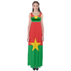 Flag Of Burkina Faso Empire Waist Maxi Dress