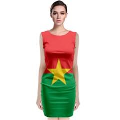 Flag Of Burkina Faso Classic Sleeveless Midi Dress