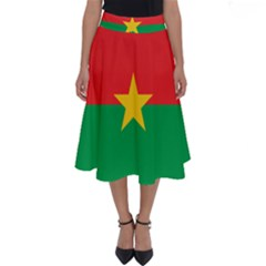 Flag Of Burkina Faso Perfect Length Midi Skirt