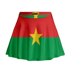 Flag Of Burkina Faso Mini Flare Skirt