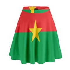 Flag Of Burkina Faso High Waist Skirt