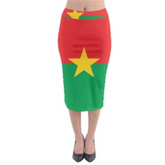 Flag Of Burkina Faso Midi Pencil Skirt by abbeyz71