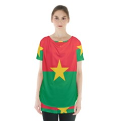 Flag Of Burkina Faso Skirt Hem Sports Top