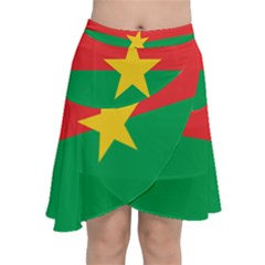 Flag Of Burkina Faso Chiffon Wrap