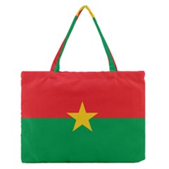 Flag Of Burkina Faso Zipper Medium Tote Bag