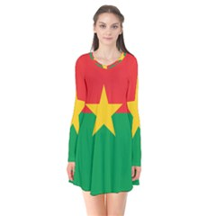 Flag Of Burkina Faso Flare Dress