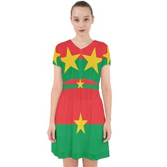 Flag Of Burkina Faso Adorable In Chiffon Dress