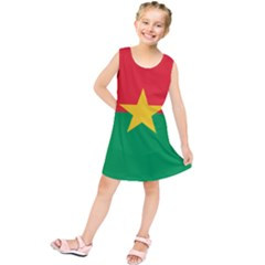Flag Of Burkina Faso Kids  Tunic Dress