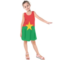 Flag Of Burkina Faso Kids  Sleeveless Dress
