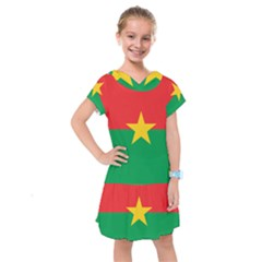 Flag Of Burkina Faso Kids  Drop Waist Dress