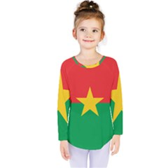 Flag Of Burkina Faso Kids  Long Sleeve Tee
