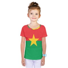 Flag Of Burkina Faso Kids  One Piece Tee
