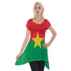Flag Of Burkina Faso Short Sleeve Side Drop Tunic