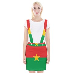 Flag Of Burkina Faso Braces Suspender Skirt