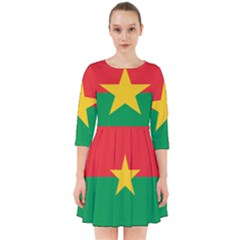 Flag Of Burkina Faso Smock Dress