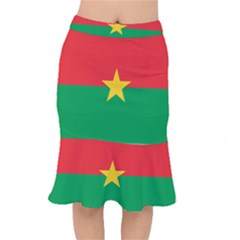 Flag Of Burkina Faso Mermaid Skirt