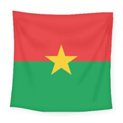 Flag Of Burkina Faso Square Tapestry (large)