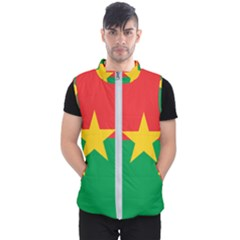 Flag Of Burkina Faso Men s Puffer Vest