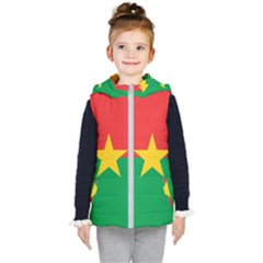 Flag Of Burkina Faso Kid s Hooded Puffer Vest