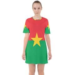 Flag Of Burkina Faso Sixties Short Sleeve Mini Dress