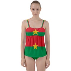 Flag Of Burkina Faso Twist Front Tankini Set