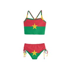 Flag Of Burkina Faso Girls  Tankini Swimsuit
