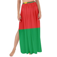 Flag Of Burkina Faso Maxi Chiffon Tie Up Sarong