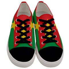 Flag Of Burkina Faso Men s Low Top Canvas Sneakers