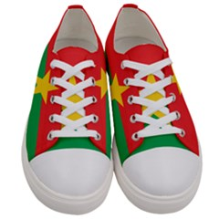 Flag Of Burkina Faso Women s Low Top Canvas Sneakers