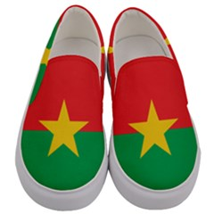 Flag Of Burkina Faso Men s Canvas Slip Ons
