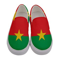 Flag Of Burkina Faso Women s Canvas Slip Ons