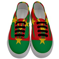 Flag Of Burkina Faso Men s Classic Low Top Sneakers
