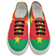 Flag Of Burkina Faso Women s Classic Low Top Sneakers
